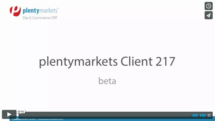 plentymarkets Client 217 beta