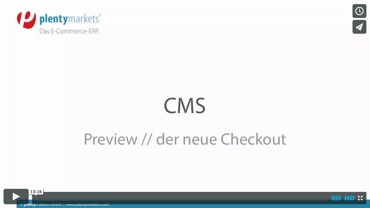 Der neue plentymarkets Checkout