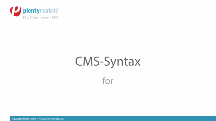 CMS-Syntax // for