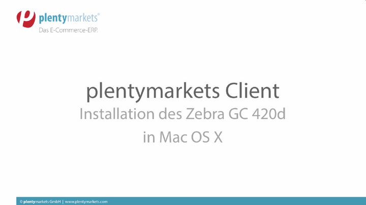 plentymarkets Client // Druckerinstallation in Mac OS X